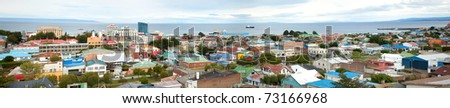 Panoramic view of Punta Arenas, Chile, South America