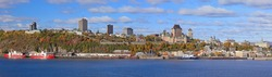 Panoramic view of Quebec City in autumn, Canada