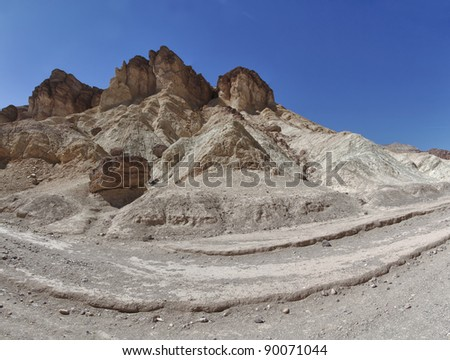 panoramic view of rocks in death valley national park