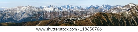 panoramic view of Rohace, West Tatra mountains, Slovakia, Poland