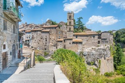 Panoramic view of Ronciglione old town, province of Viterbo, Lazio, central Italy.