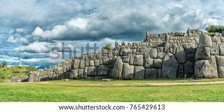 panoramic view of sacsayhuaman  ...
