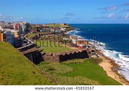 Panoramic view of San Juan Puerto Rico