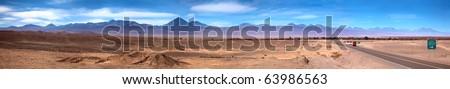 Panoramic view of San Pedro de Atacama, Chile