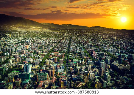 panoramic view of santiago de...