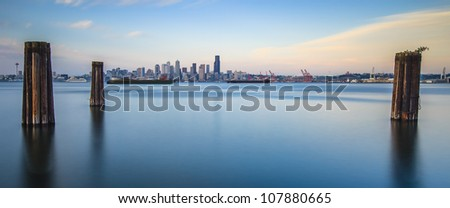 panoramic view of Seattle from Alki