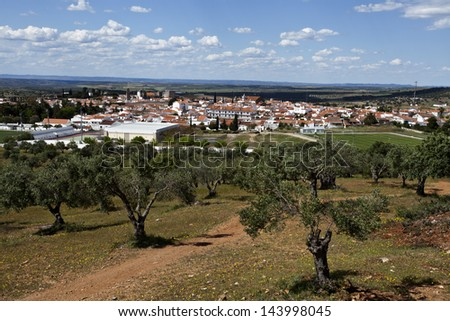Panoramic View of Serpa, Portugal