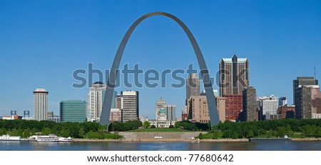 Panoramic view of St. Louis.