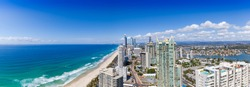 Panoramic view of Surfers Paradise on Queensland's Gold Coast