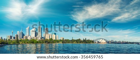 Panoramic view of Sydney - New South Wales, Australia.