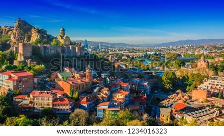 Panoramic view of Tbilisi, Georgia.
