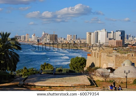 Panoramic view of Tel-Aviv (Israel)