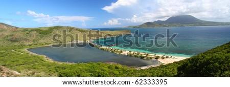 Panoramic view of the amazing Caribbean island Saint Kitts