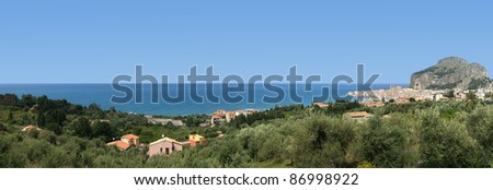panoramic view of the Cefalu. Cefalu is a delicious historic and turistic town in the Palermo's area. Sicily, Italy.