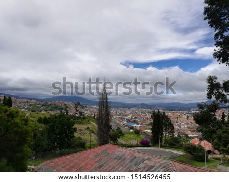 Panoramic view of the city of Bogota Colombia