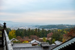 panoramic view of the city of Nara