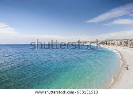 Panoramic view of the coast of Nice, France #638131510