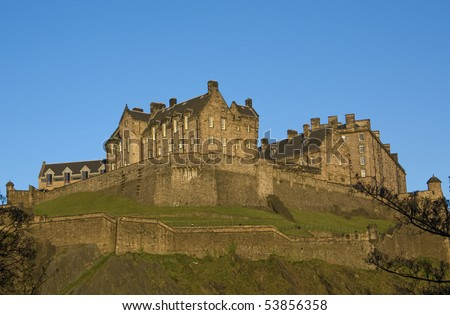 Panoramic view of the Edinburgh Castle , Scotland