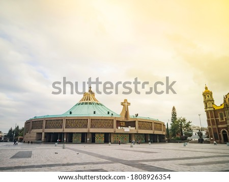 Panoramic view of the famous Basilica of Guadalupe on a quiet morning without people Stock photo ©