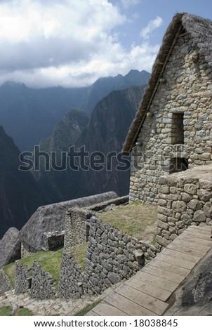 Panoramic view of the hidden Inca sanctuary of Machupicchu. Cusco, Peru, South America.
