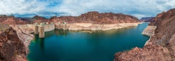 Panoramic view of The Hoover Dam
