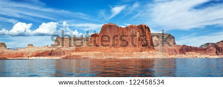 panoramic view of the lake Powell, Page, USA
