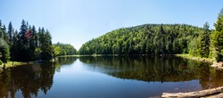 Panoramic view of the lake