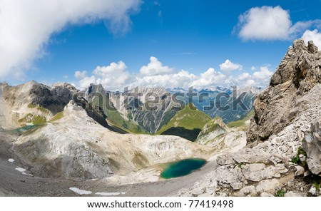 Panoramic view of the Lechtal Alps, Tirol, Austria