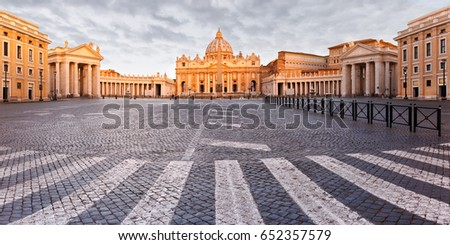 panoramic view of the papal...