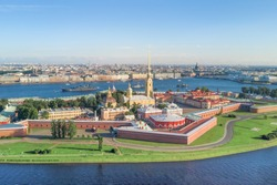 Panoramic view of the Peter and Paul Fortress, St. Petersburg