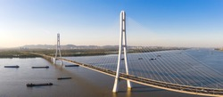 Panoramic View of the Third Nanjing Yangtze River Bridge.