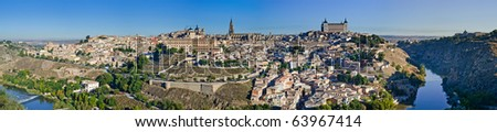 Panoramic view of Toledo. Spain