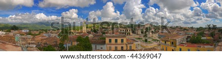Panoramic view of Trinidad town and sierra del escambray, cuba