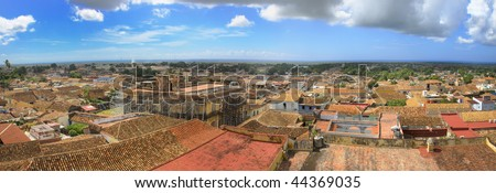Panoramic view of trinidad vintage town, cuba