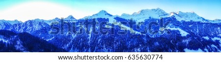 Panoramic view of Vorarlberg area, Austian Alps