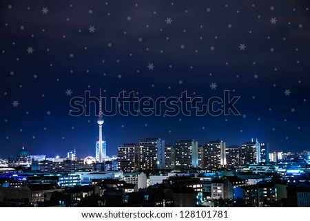 panoramic view on berlin at christmas time
