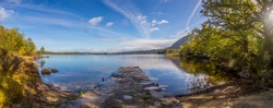 Panoramic view on Muckross lake in the Killarney National park