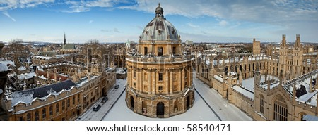 Panoramic view on the Radcliffe Camera and All Souls College 1438