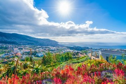 Panoramic view over Funchal, from Pico dos Barcelos viewpoint,