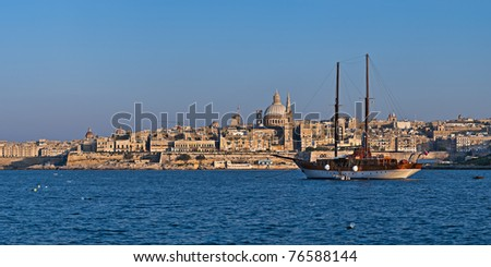Panoramic view over Valletta, the capital of Malta