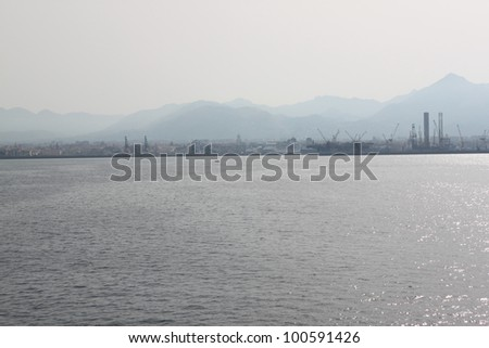 Panoramic view sicily sea coast,italy
