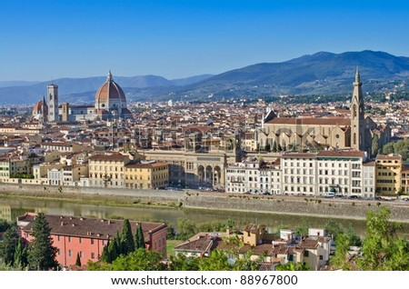 Panoramic view to Florence, Italy