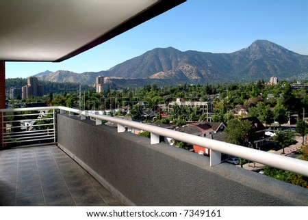 panoramic views from the balcony of an apartment