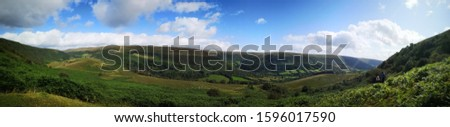 Panormaic of welsh countryside, UK
