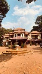 Pant Amatya Bavdekar  Wada, Palasambe, Kolhapur, Maharashtra, India - March 11, 2021: A historical Heritage Home Museum of 16th century of emperior Shivaji Maharaj