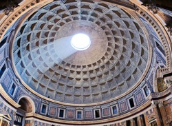 Pantheon in Rome, inside view, Italy