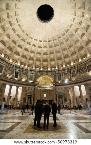 pantheon interior by night