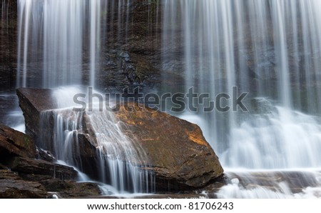 Panther Creek Waterfall Detail - Georgia, United States - stock photo