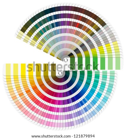 Pantone Color Palette - Semicircle / Color palette guide isolated on white background - Semicircle