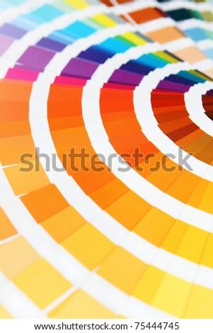 sample pantone color chart